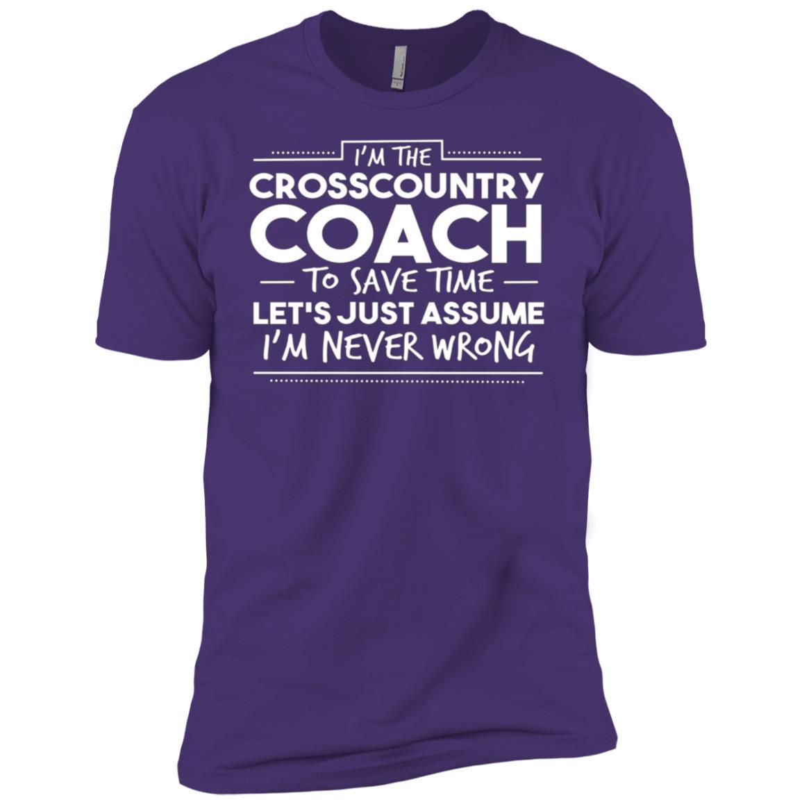 Funny Cross Country Coach Cross Country Men Short Sleeve T-Shirt