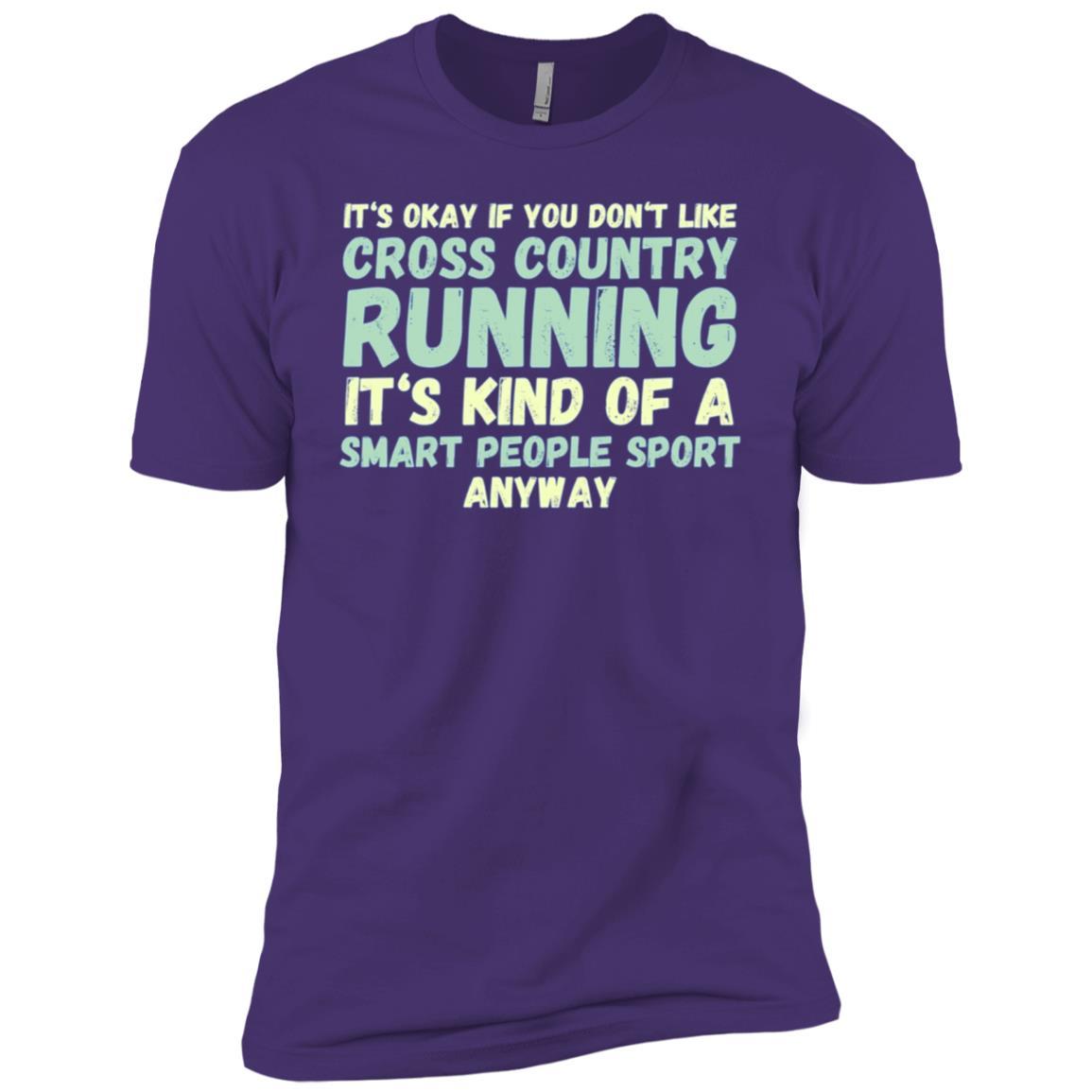 Funny Cross Country – LS XC Running Tee Men Short Sleeve T-Shirt