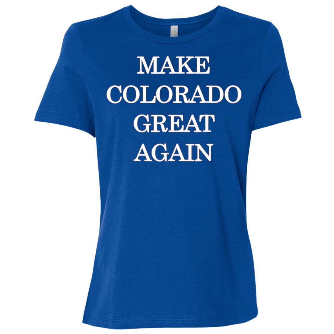Make Colorado Great Again Pro Trump Republican Women Short Sleeve T-Shirt