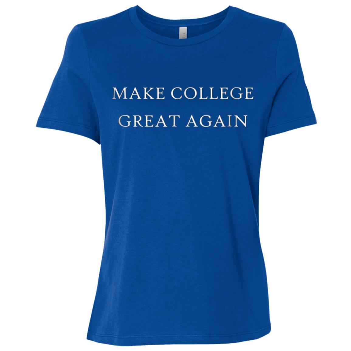Make College Great Again Funny Back To School Freshman Women Short Sleeve T-Shirt