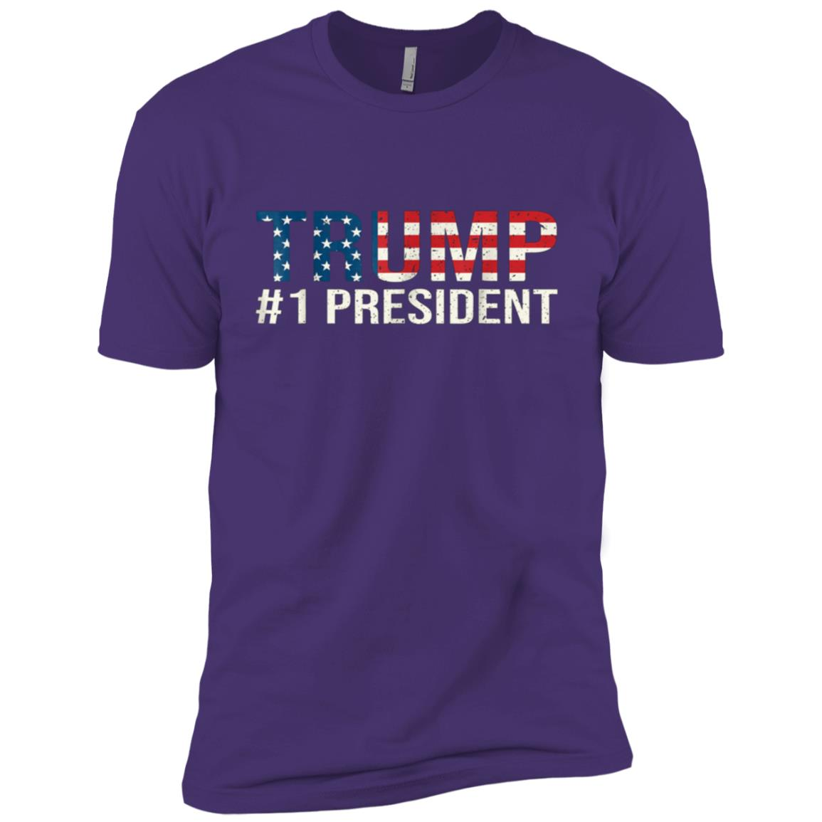 Trump #1 President Funny Supporter Political Election Men Short Sleeve T-Shirt