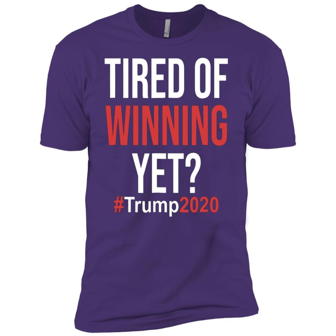 Tired of Winning Yet Trump Supporter Political 2020 Men Short Sleeve T-Shirt