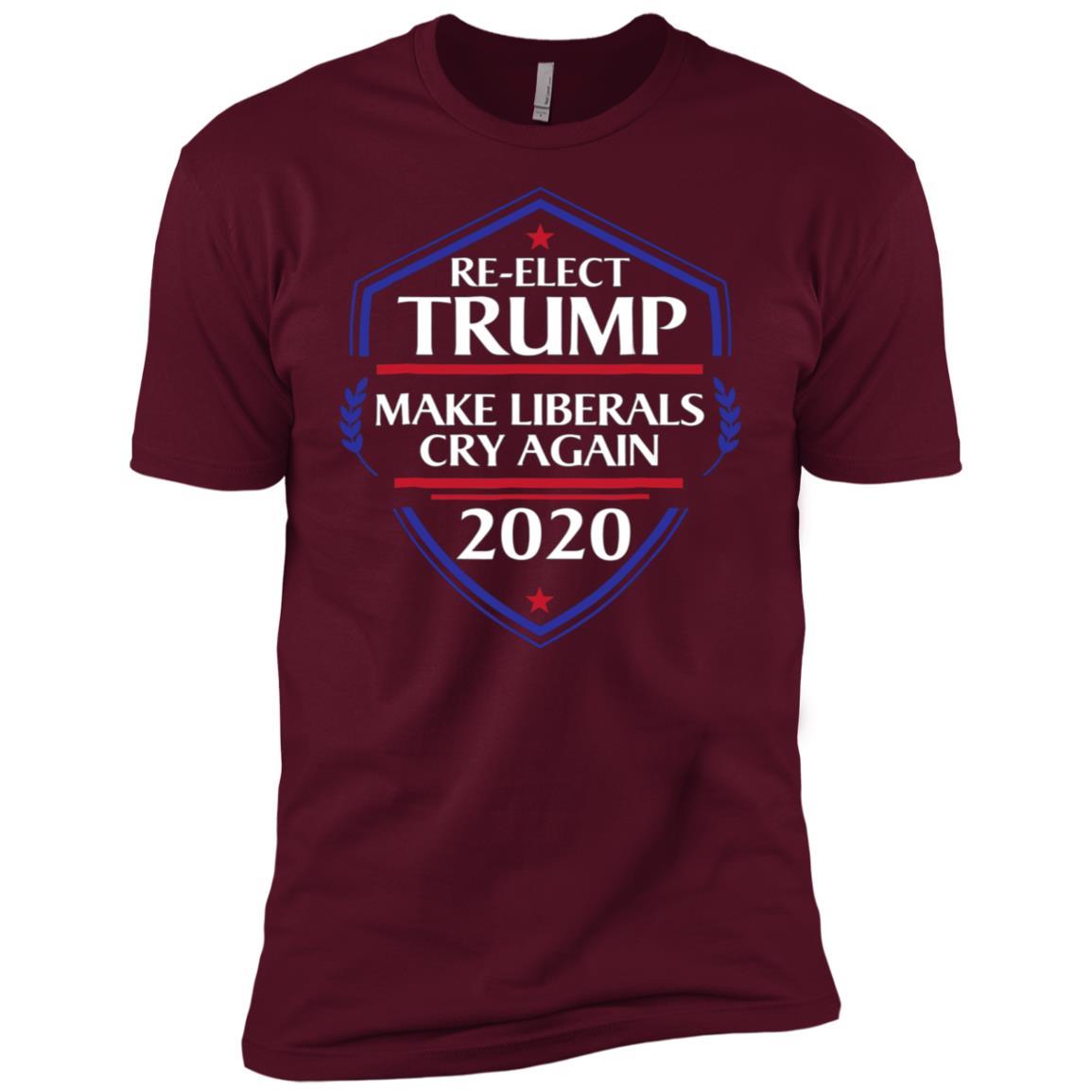 Re-elect Trump Make Liberals Cry Again 2020 Men Short Sleeve T-Shirt