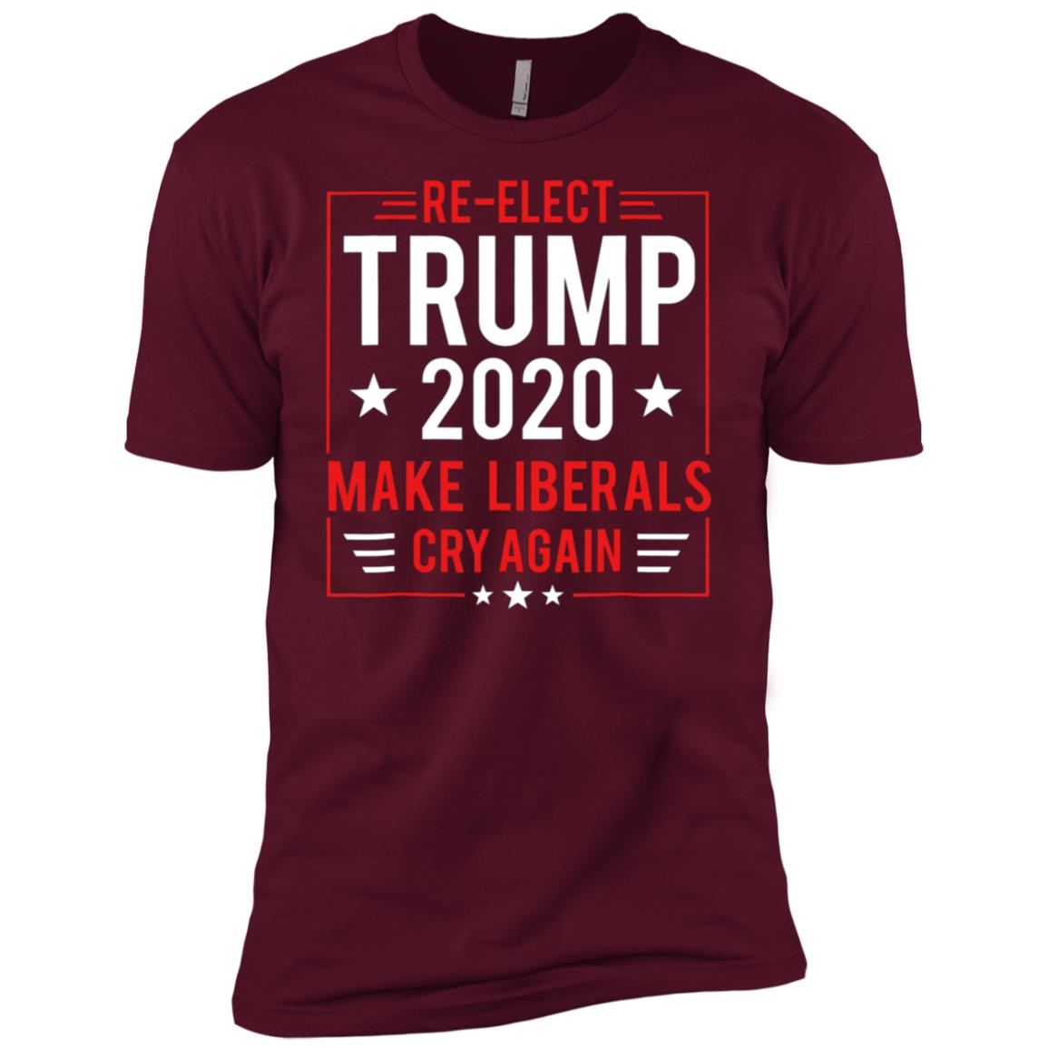 Re-elect Trump 2020 Make Liberals Cry Again Men Short Sleeve T-Shirt