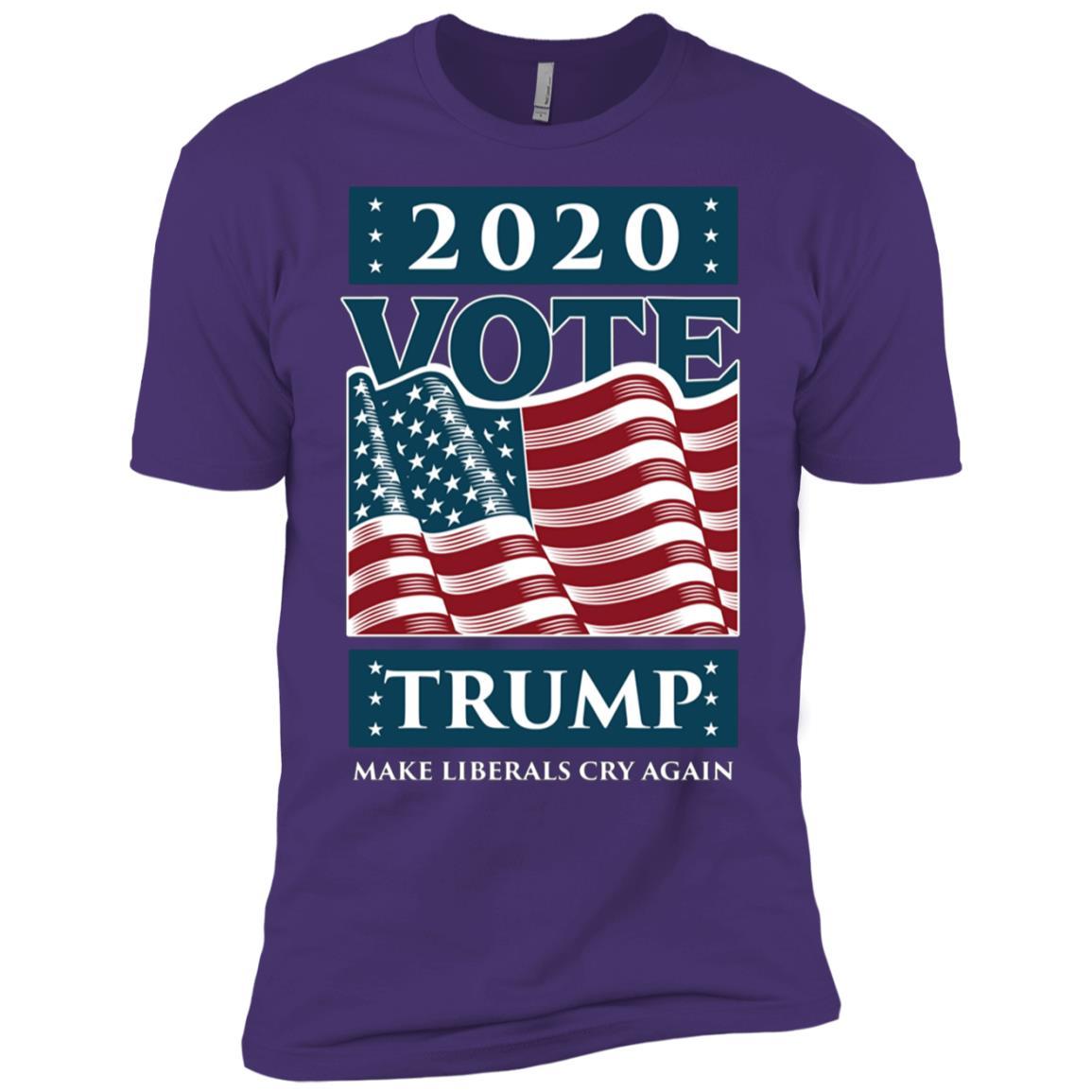 Re-Elect Trump 2020 Liberals Cry Again Men Short Sleeve T-Shirt