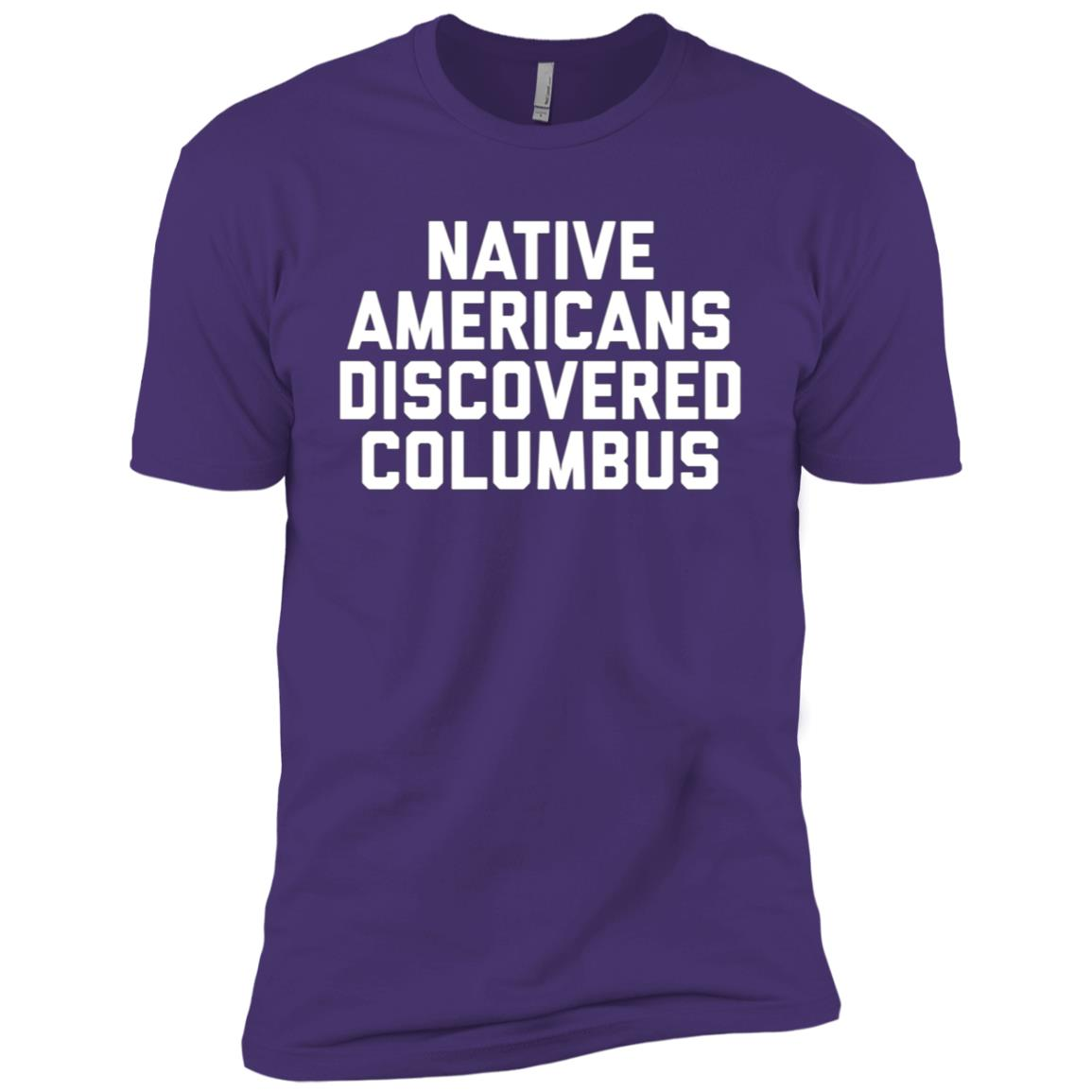 Native Americans Discovered Columbus Men Short Sleeve T-Shirt