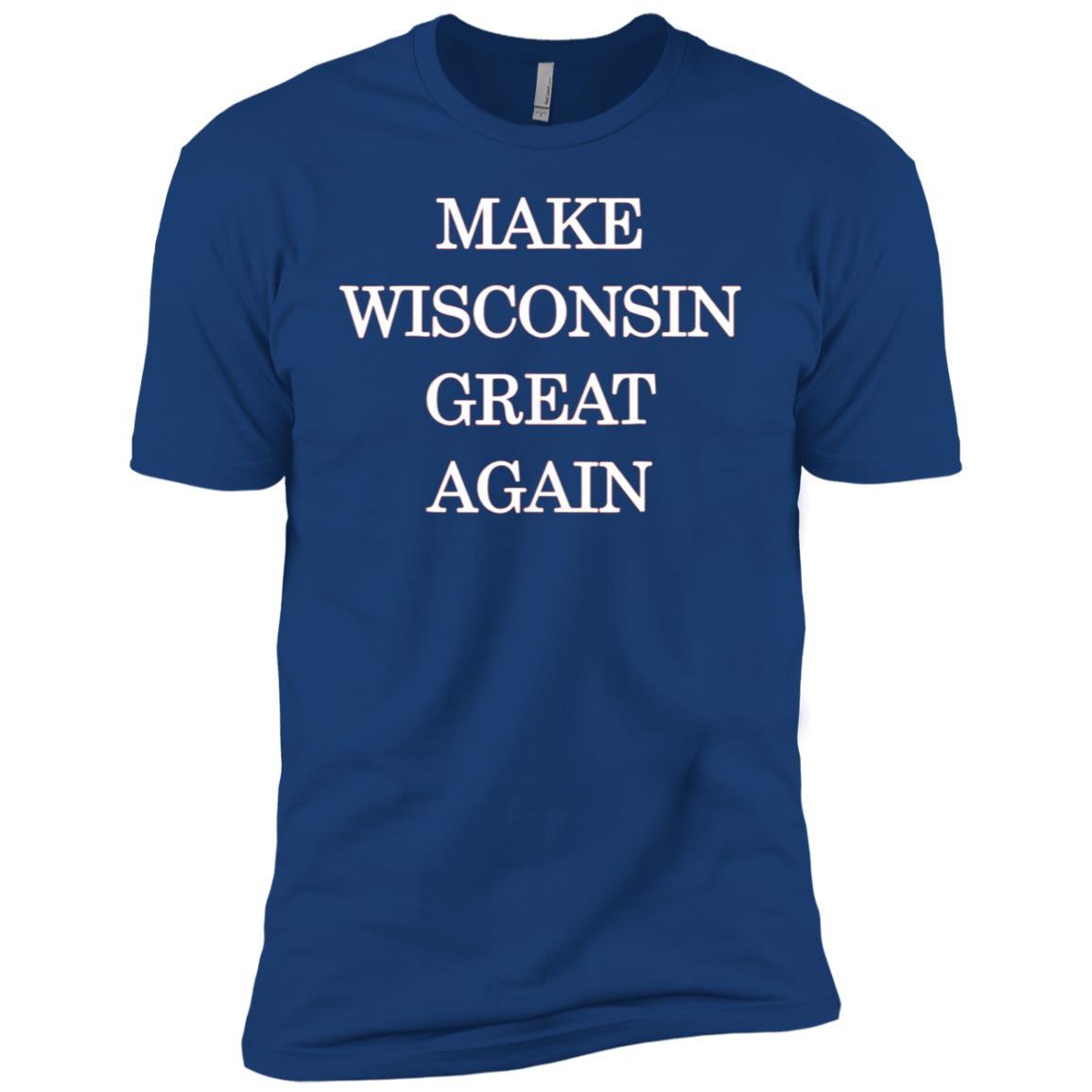 Make Wisconsin Great Again Pro Trump Republican Men Short Sleeve T-Shirt