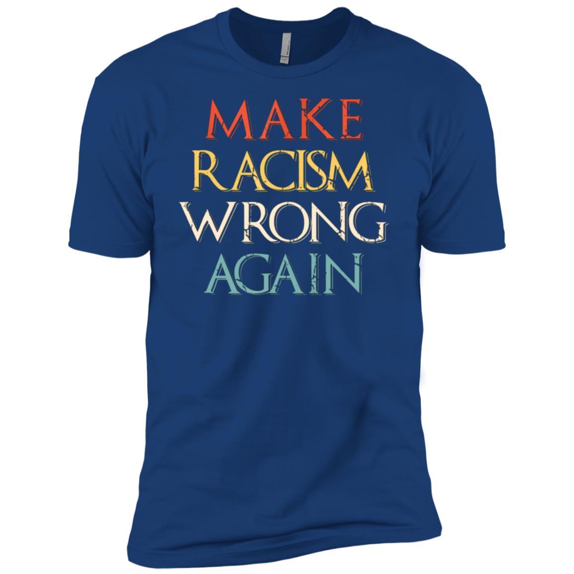 Make Racism Wrong Again Anti-Hate 86 45 Resist Men Short Sleeve T-Shirt