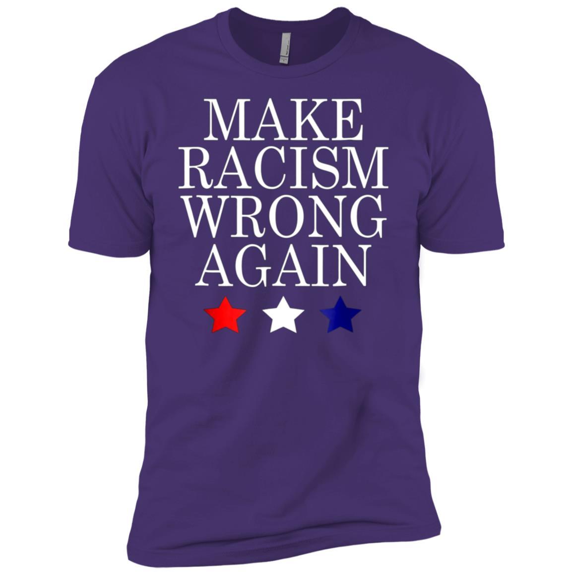 Make Racism Wrong Again Anti Trump Resist Men Short Sleeve T-Shirt