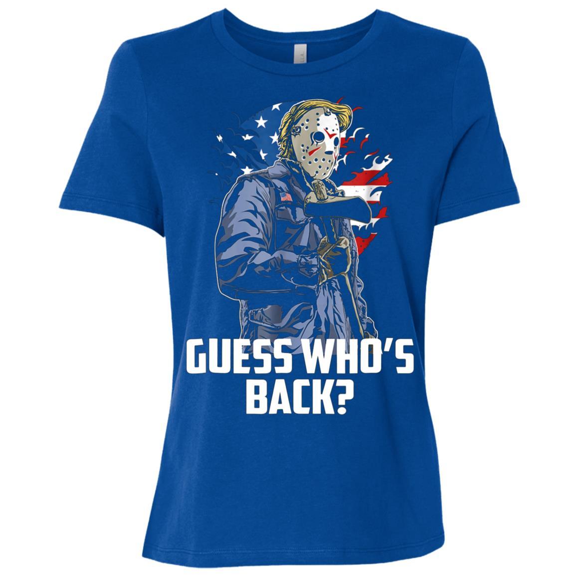 Trump 2020 . Guess Who's Back, Re-elect Trump POTUS Women Short Sleeve T-Shirt