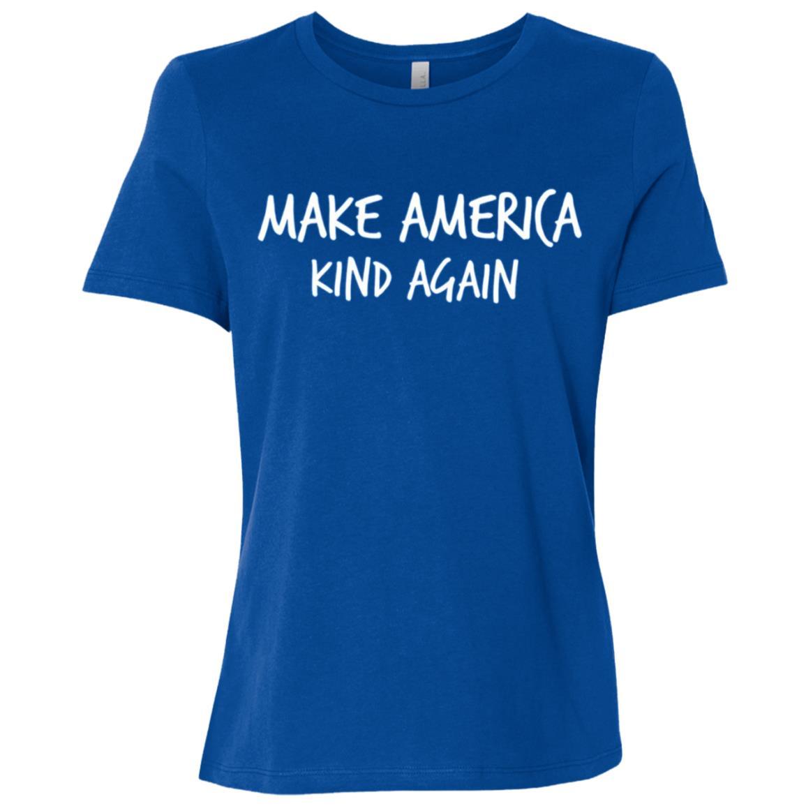Simple and Bold Make America Kind Again Women Short Sleeve T-Shirt