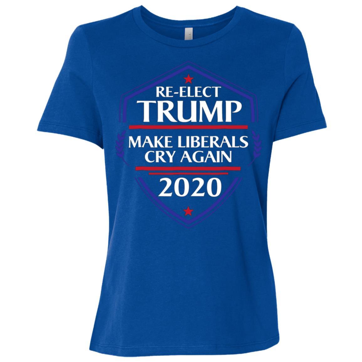 Re-elect Trump Make Liberals Cry Again 2020 Women Short Sleeve T-Shirt