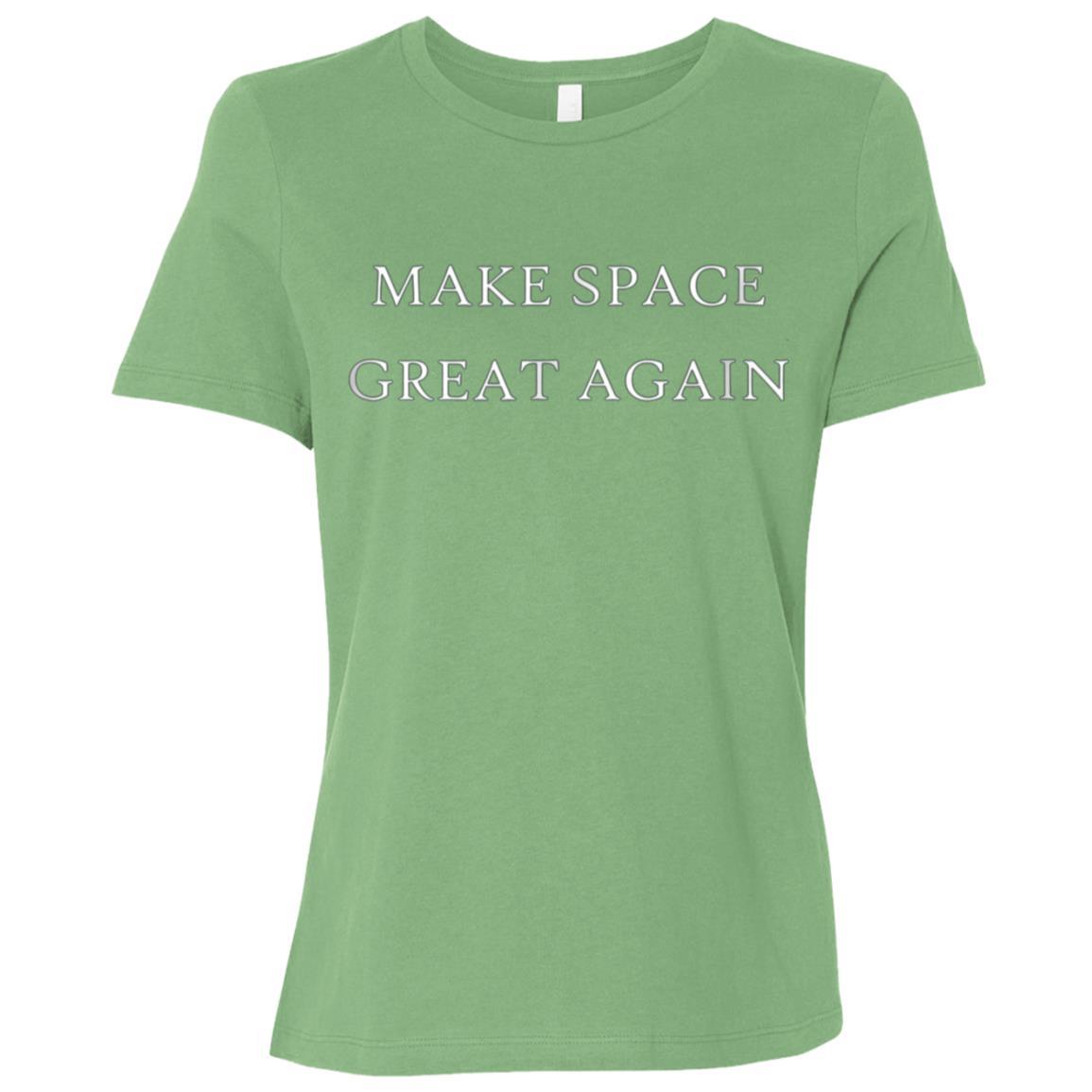 Make Space Great Again Funny Trump America Women Short Sleeve T-Shirt