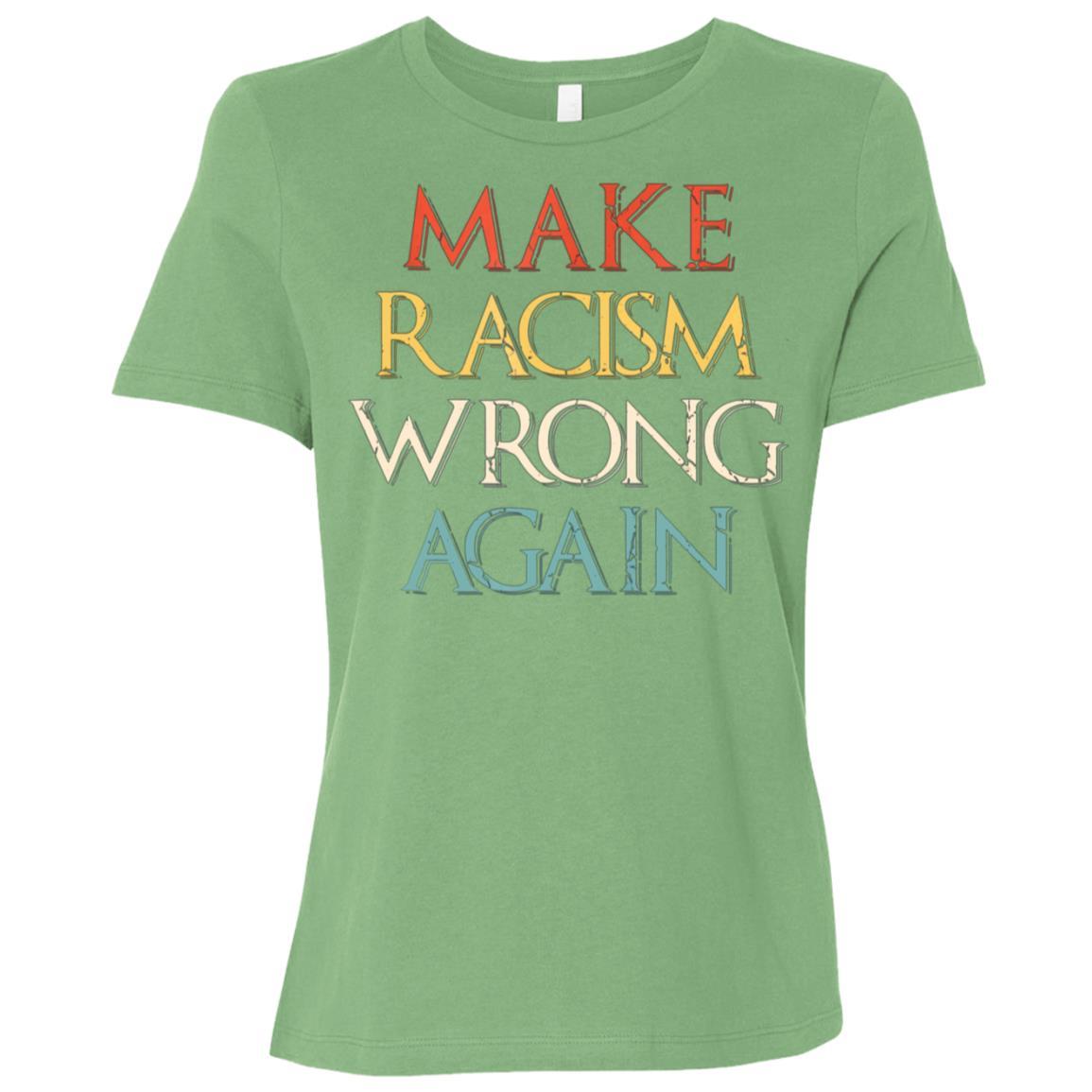 Make Racism Wrong Again Anti-Hate 86 45 Resist Women Short Sleeve T-Shirt