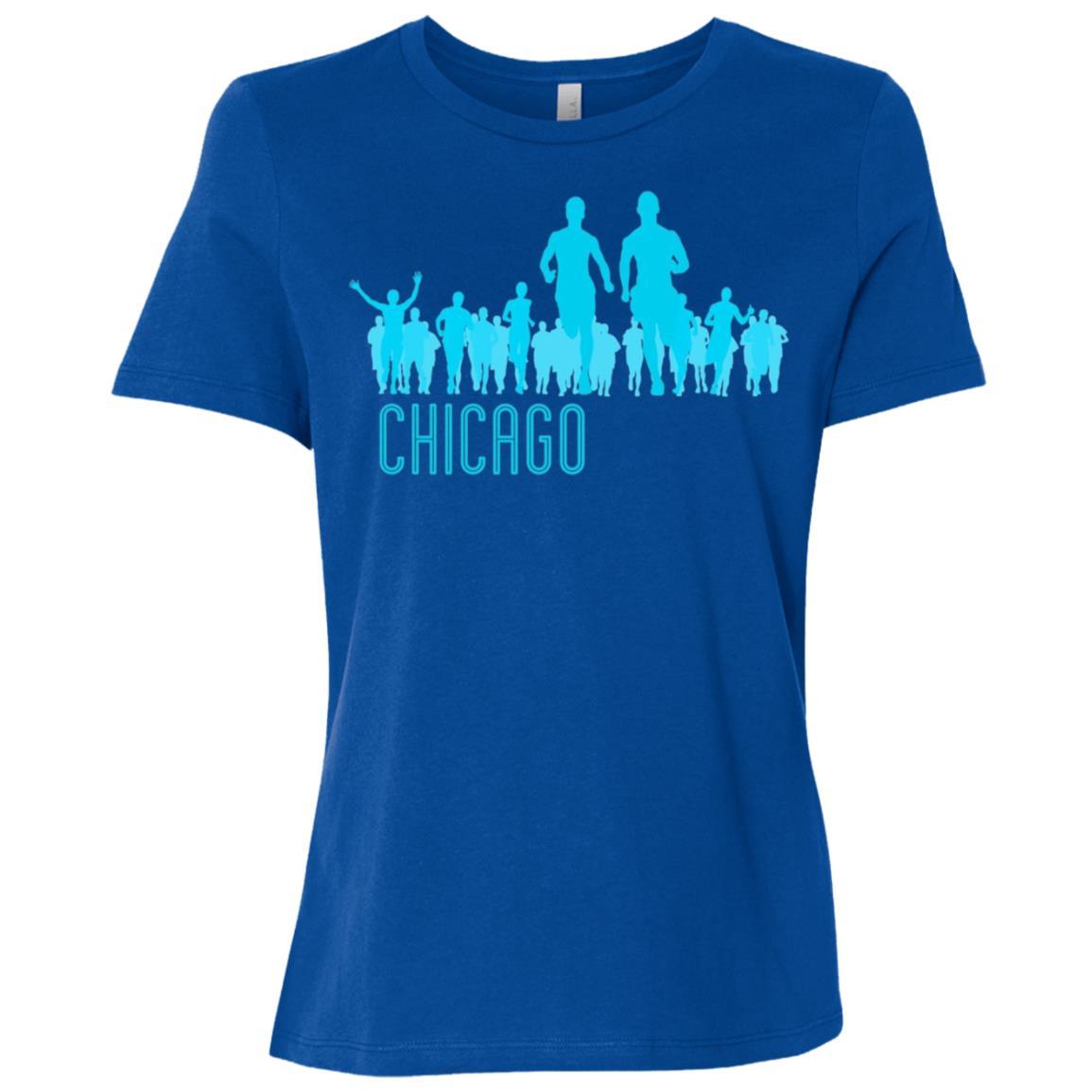 Chicago Running AQUA Women Short Sleeve T-Shirt