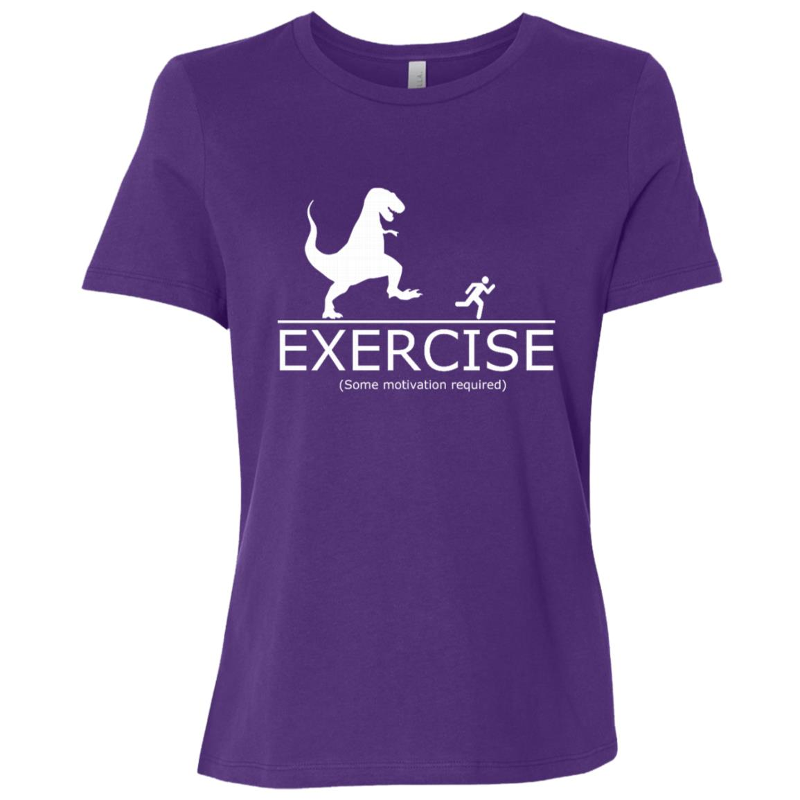 Funny Exercise Motivation Required Running T-Rex Women Short Sleeve T-Shirt