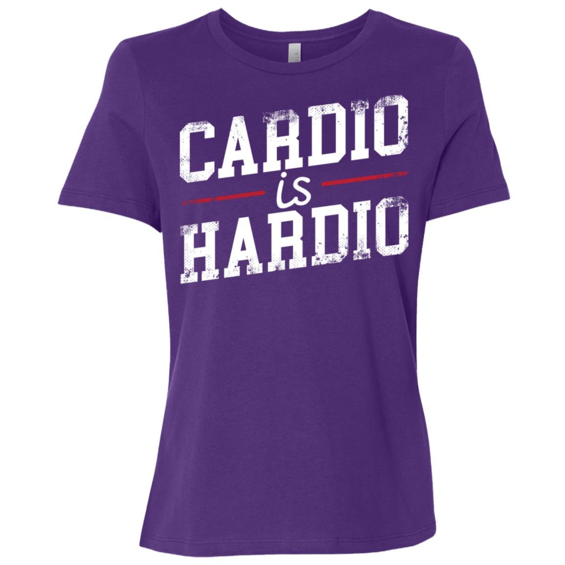 Cardio Is Hardio Fitness Workout Gift Women Short Sleeve T-Shirt