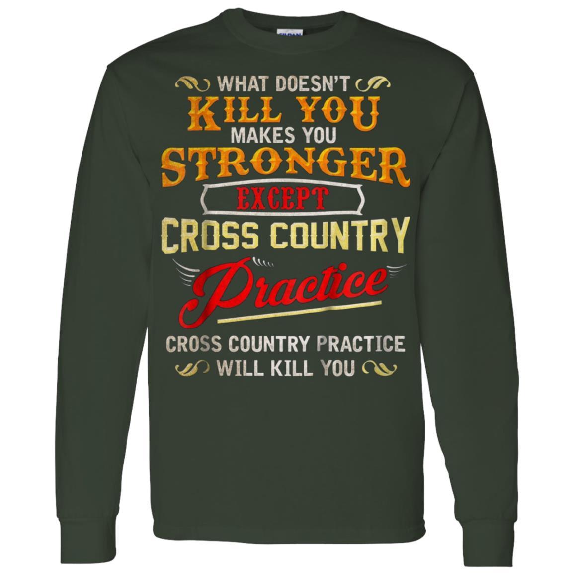 Funny Cross Country Runner Gift for Running Coach Men Long Sleeve T-Shirt