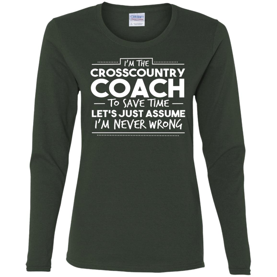 Funny Cross Country Coach Cross Country Women Long Sleeve T-Shirt