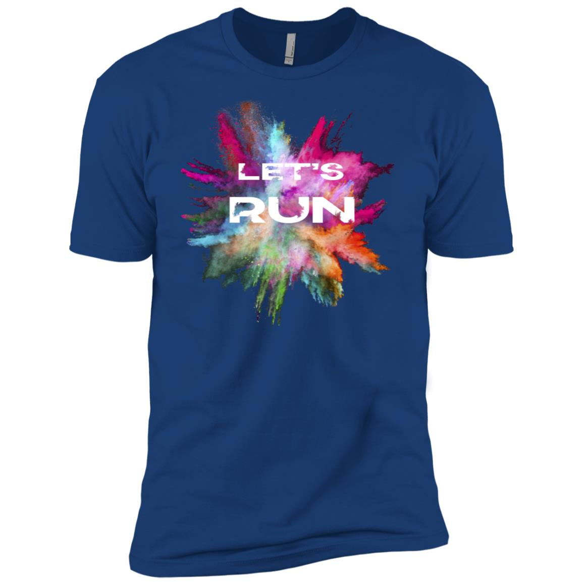 Graphic Running Tee Tops with Saying Colorful Men Short Sleeve T-Shirt