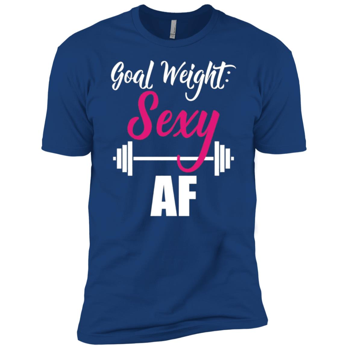 Goal Weight Sexy AF Dumbbell Weightlifting Gym Men Short Sleeve T-Shirt