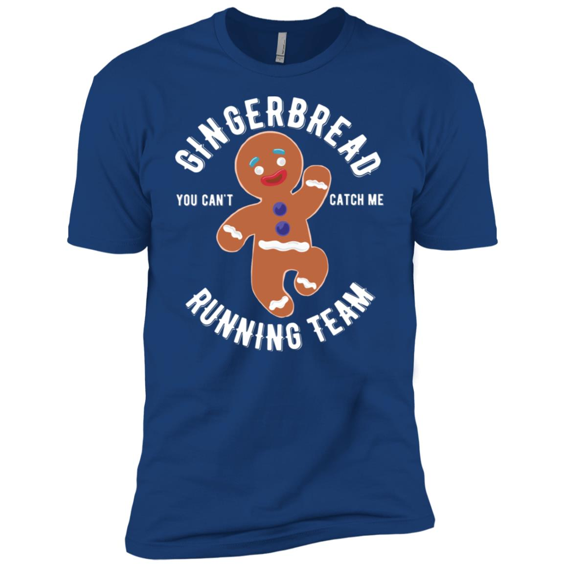 Gingerbread Running Team Graphic Christmas Men Short Sleeve T-Shirt