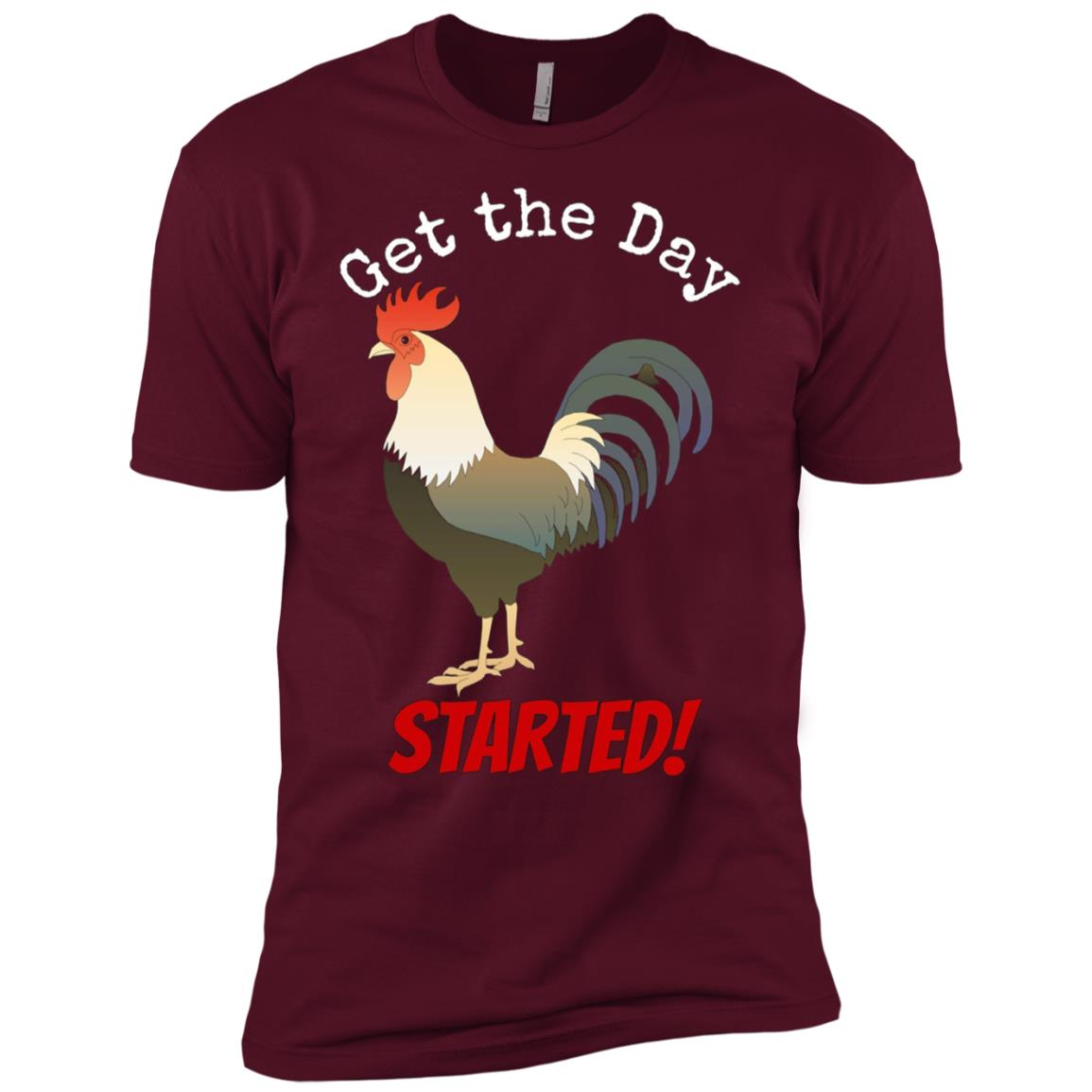 Get the Day Started Rooster Pajama Men Short Sleeve T-Shirt