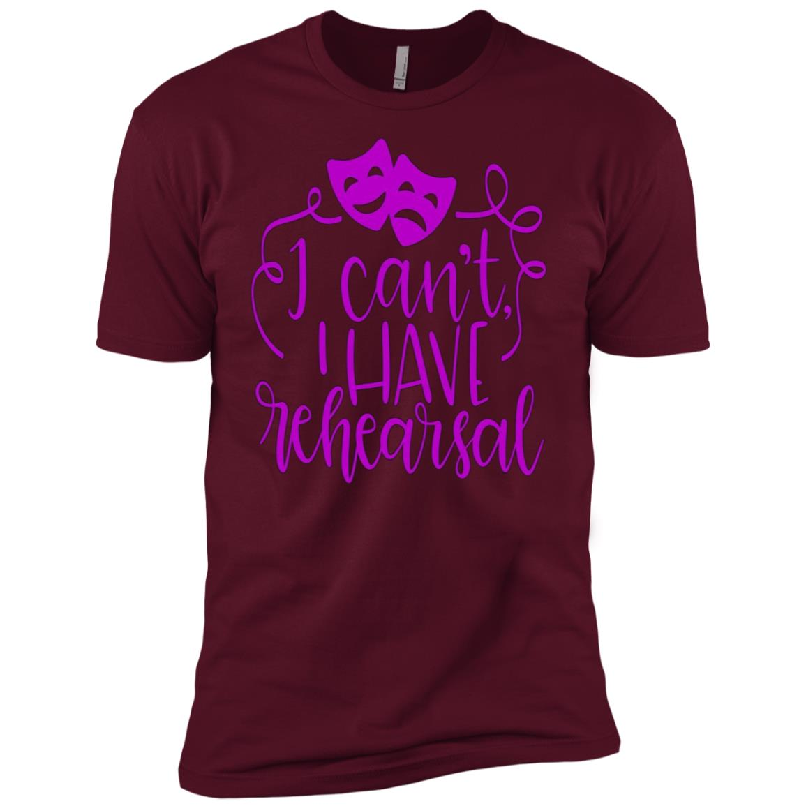 Funny Theater Sorry I Can't I Have Rehearsal Plum Men Short Sleeve T-Shirt