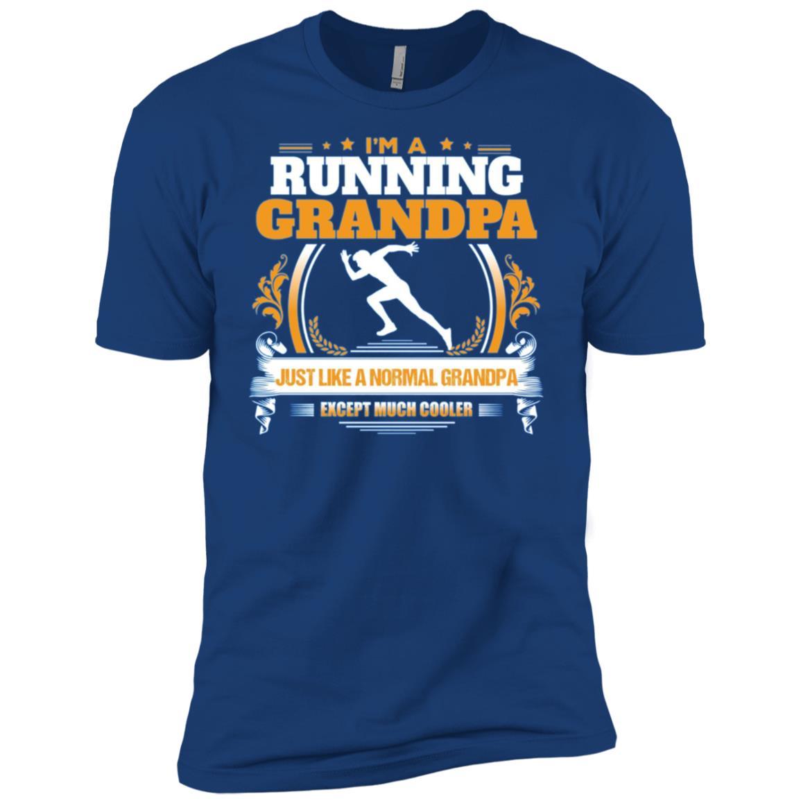 Funny Running Grandpa Christmas Gift for Grandpa Men Short Sleeve T-Shirt