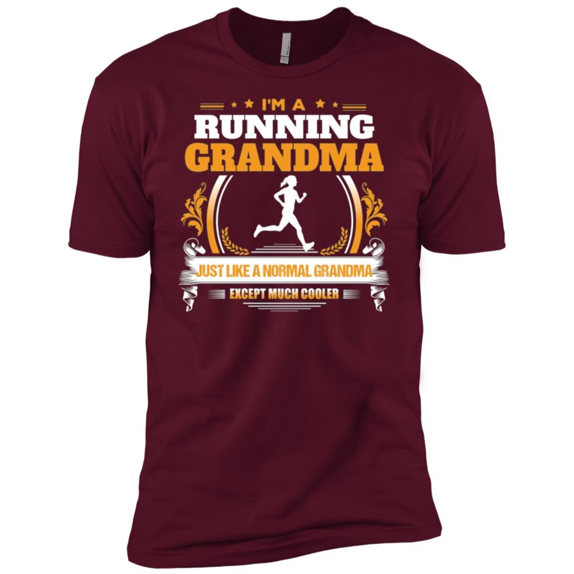 Funny Running Grandma Christmas Gift for Grandma Men Short Sleeve T-Shirt