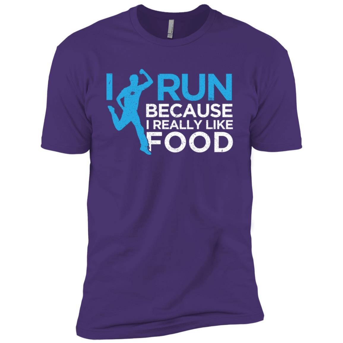 Funny Running Gift I Run For Food Runner Humor Men Short Sleeve T-Shirt