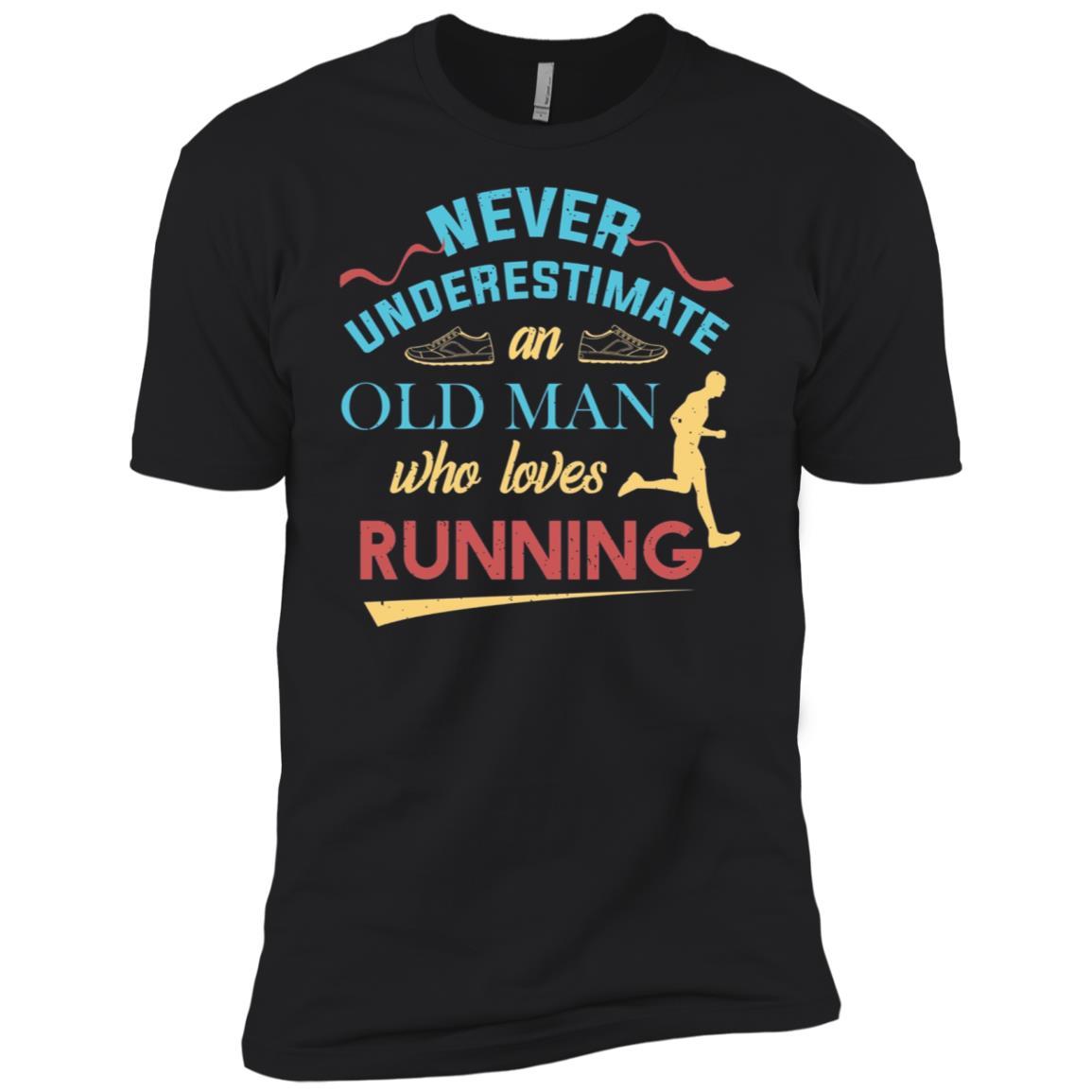 Funny Runner Gifts Old Man Loves To Run Dad Grandpa Men Short Sleeve T-Shirt