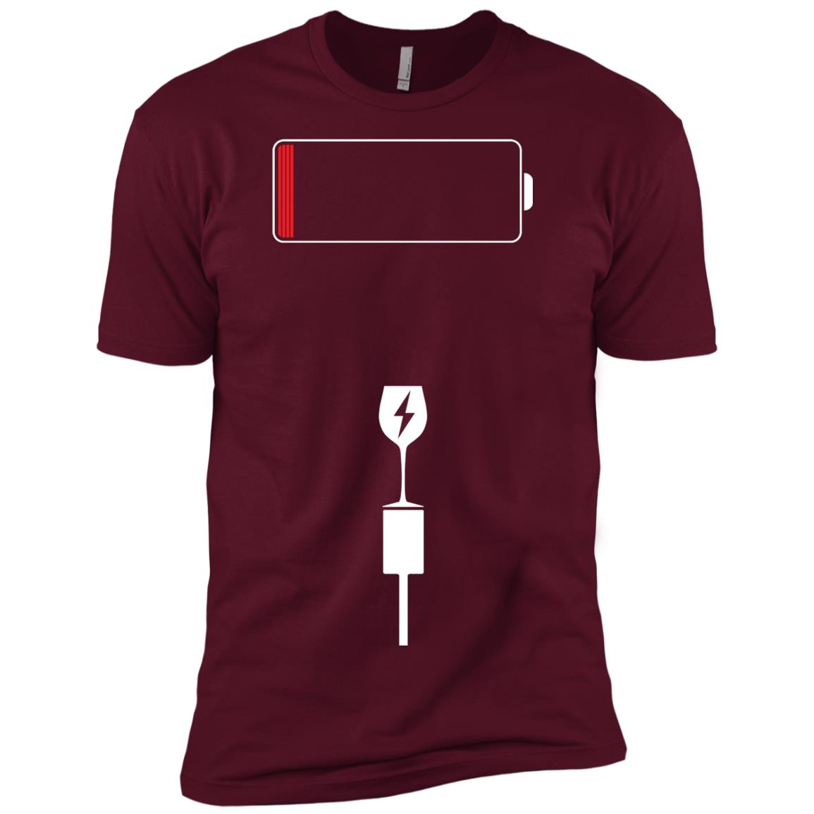 Funny Patience Running Low Battery LS – Add Wine Men Short Sleeve T-Shirt