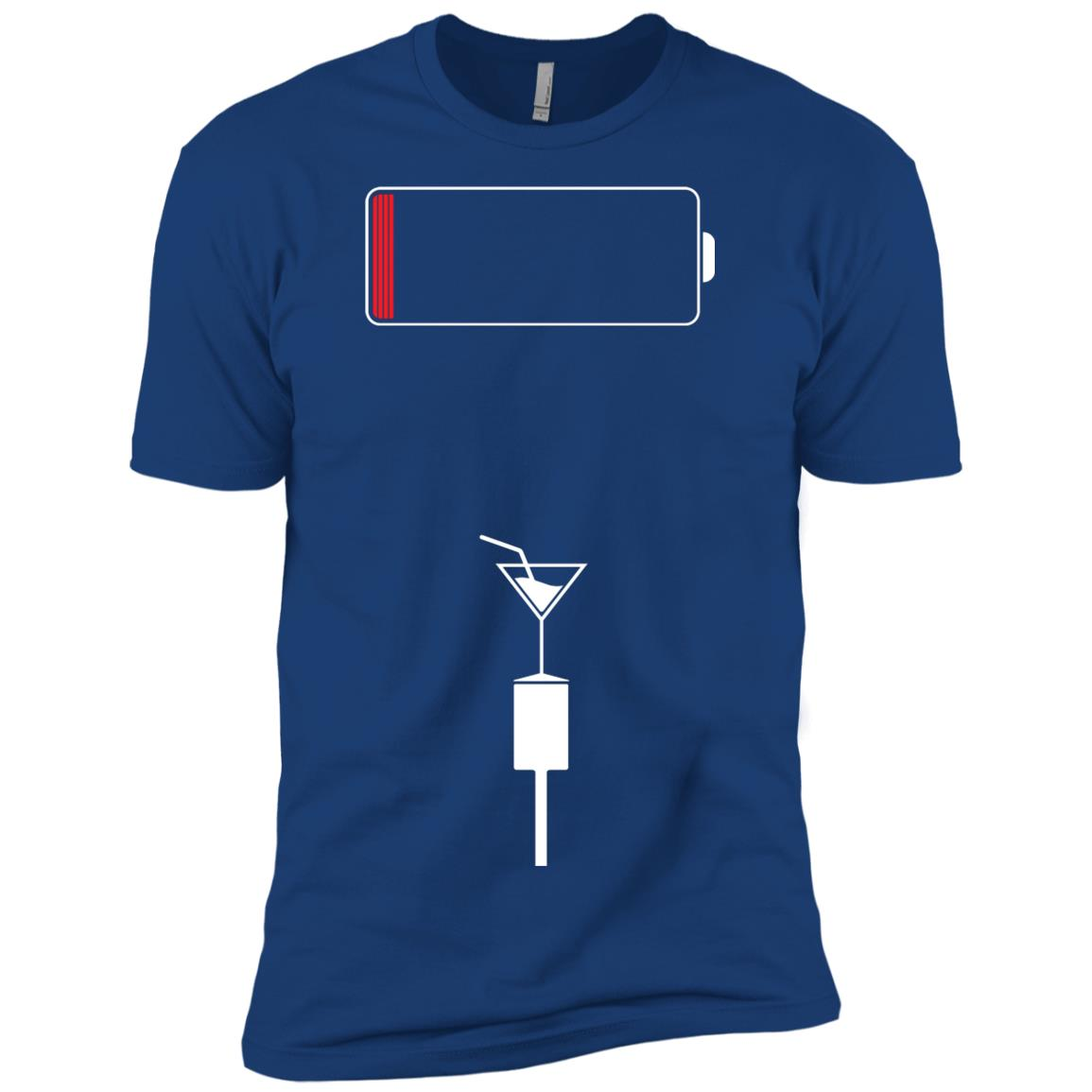 Funny Patience Running Low Battery Men Short Sleeve T-Shirt