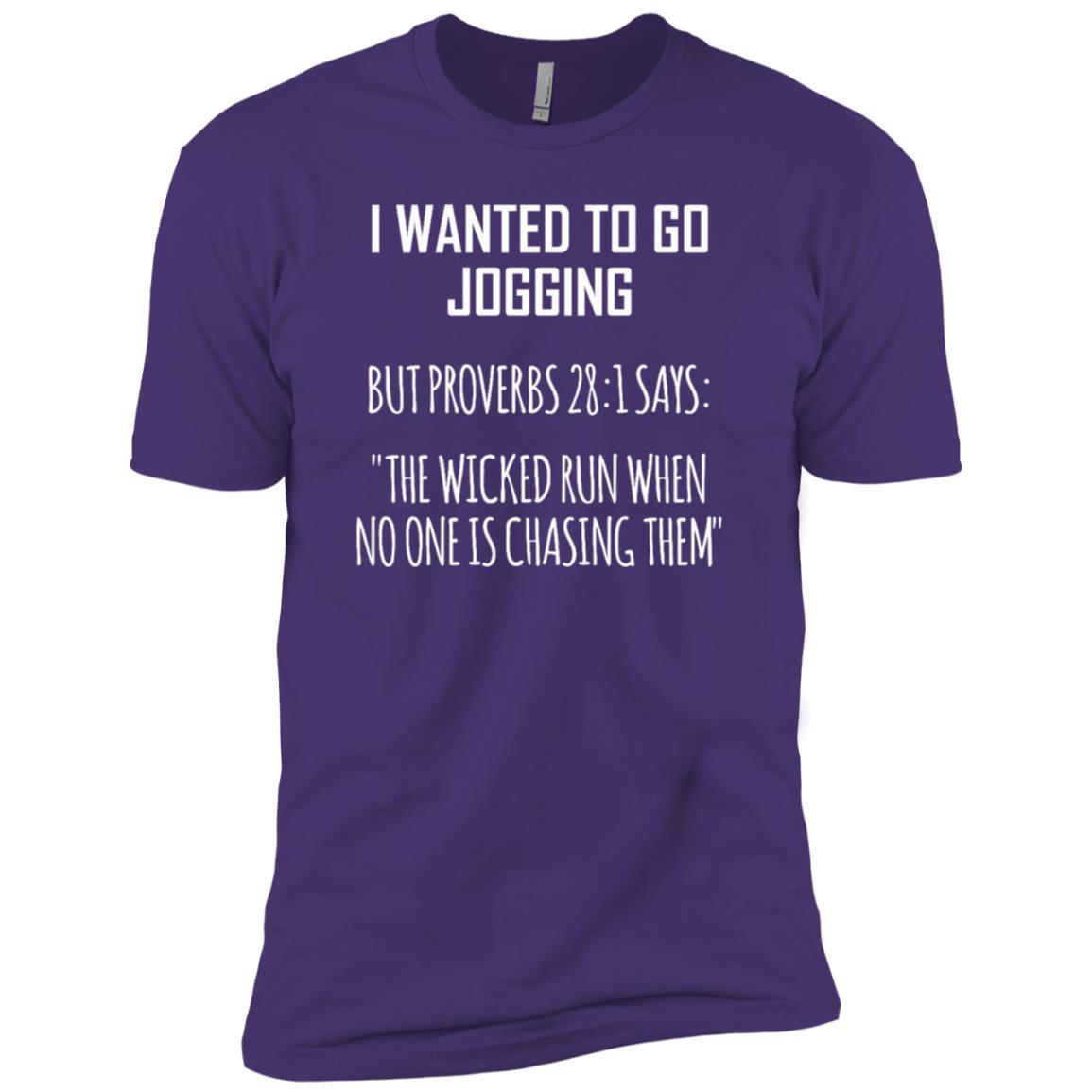 Funny Jogging Joke- I Wanted To Go Jogging Men Short Sleeve T-Shirt