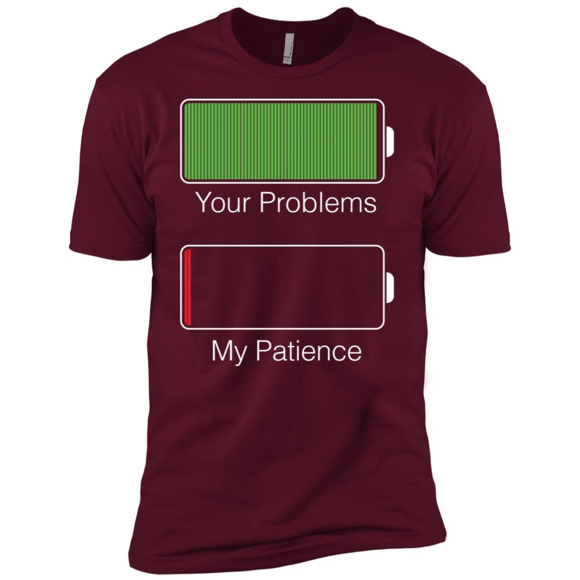 Funny Patience Running Low Battery -1 Men Short Sleeve T-Shirt