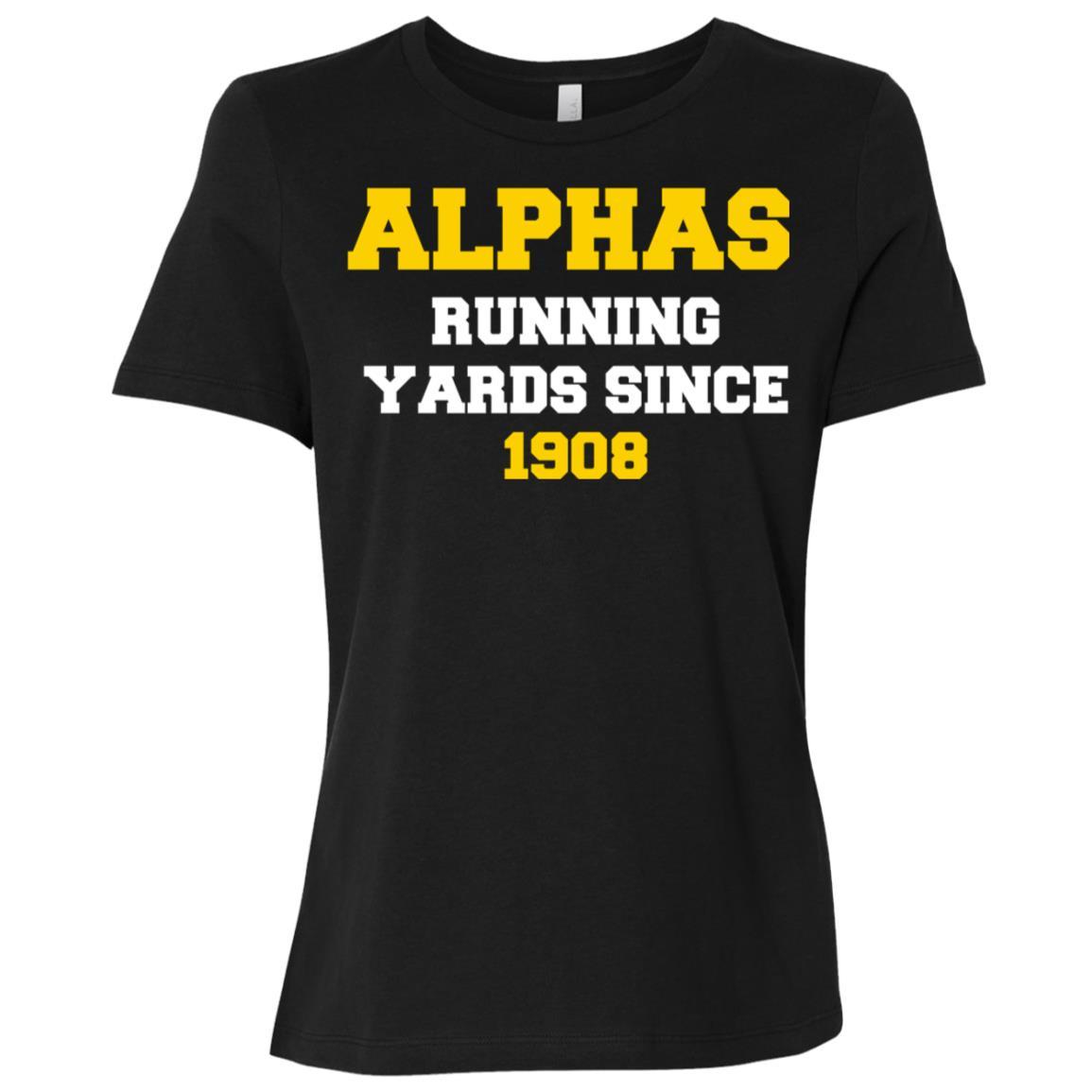 A Fraternity Phi A Running Yards Since 1908 Women Short Sleeve T-Shirt