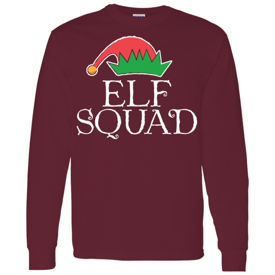 Christmas Elf Squad Men Long Sleeve T-Shirt