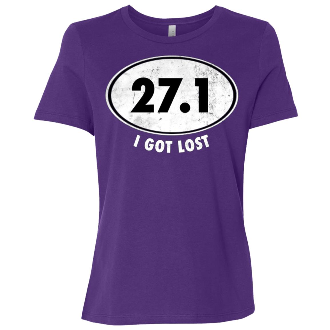 27.1 I Got Lost Funny Marathon Runner Tee Women Short Sleeve T-Shirt