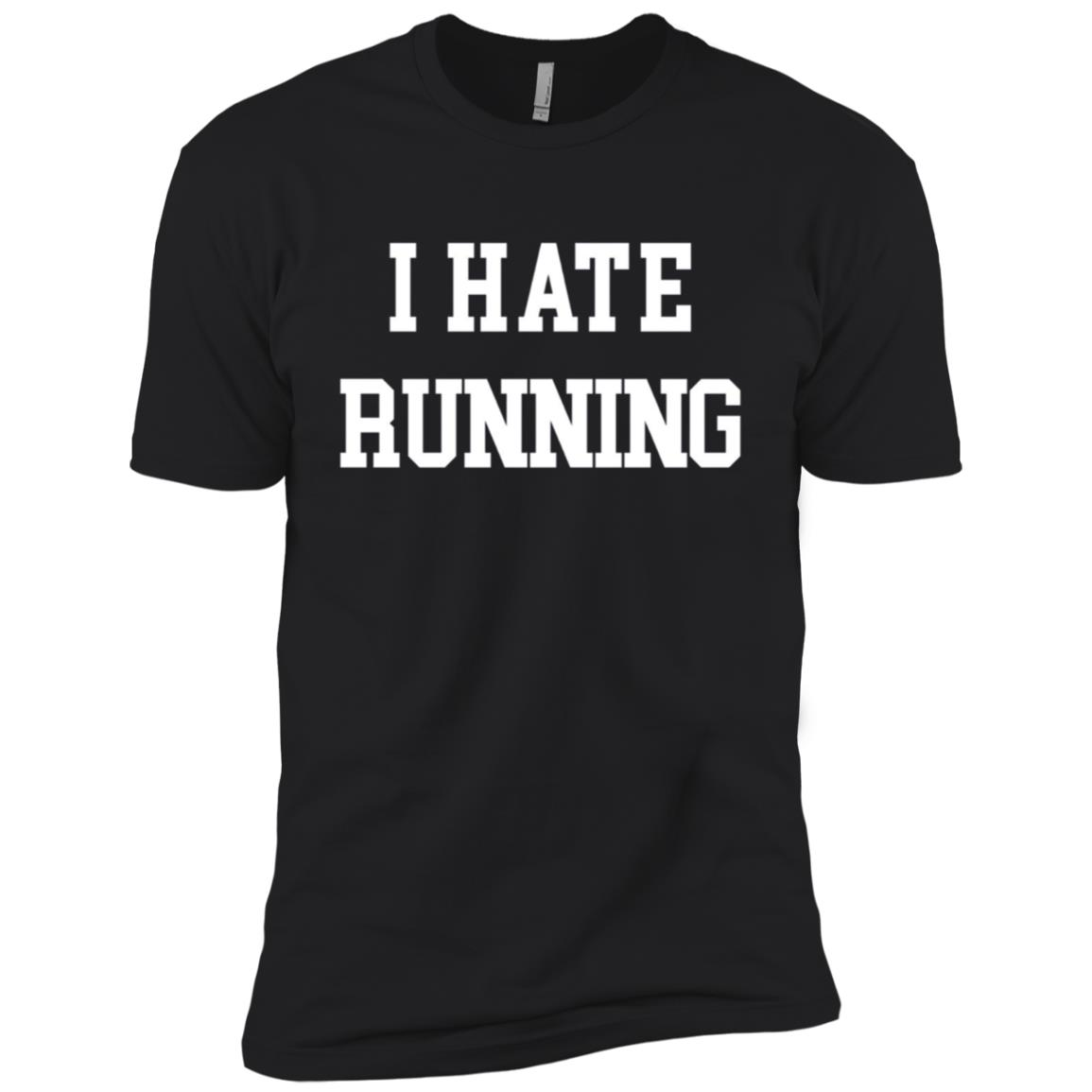 I Hate Running Funny Workout Exercise Cardio Tee Men Short Sleeve T-Shirt