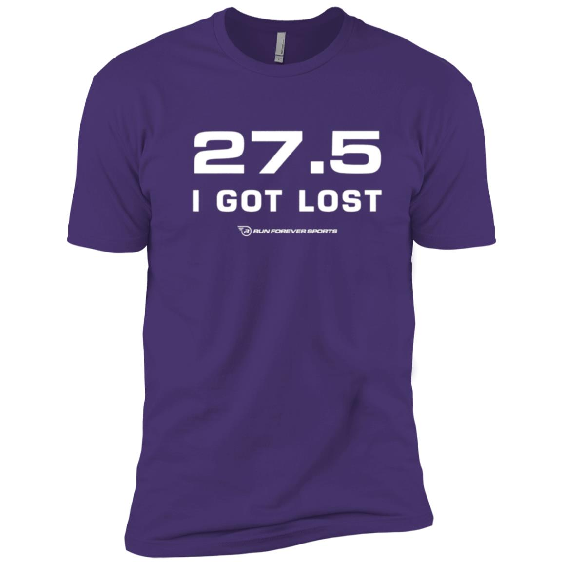 I Got Lost Funny Marathon Running – White Men Short Sleeve T-Shirt