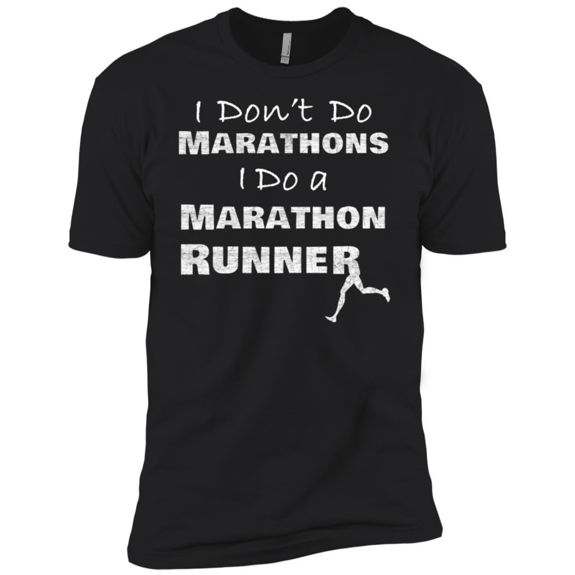 I Don't Do Marathons I Do a Marathon Runner Couples Men Short Sleeve T-Shirt