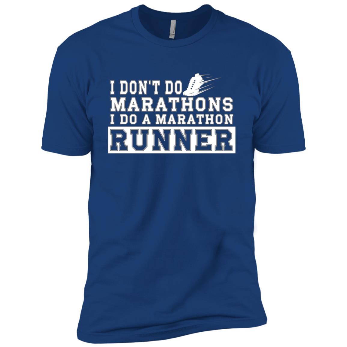 I DON'T DO MARATHONS I DO A MARATHON RUNNER Men Short Sleeve T-Shirt