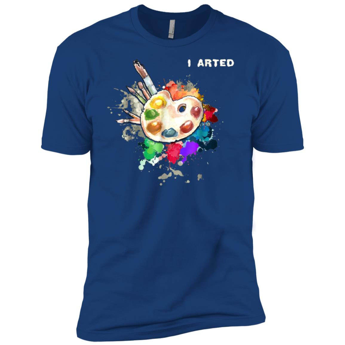 I Arted Funny Art Cool Graphic Colorful Artist Gift Men Short Sleeve T-Shirt
