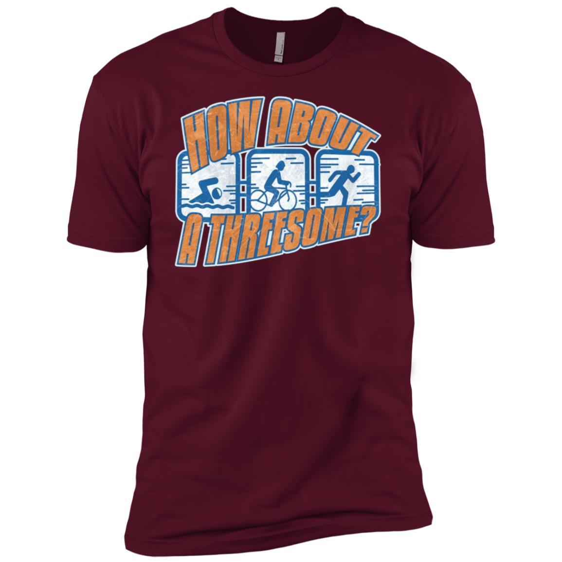 How About A Threesome Triathlete Triathlon Men Short Sleeve T-Shirt