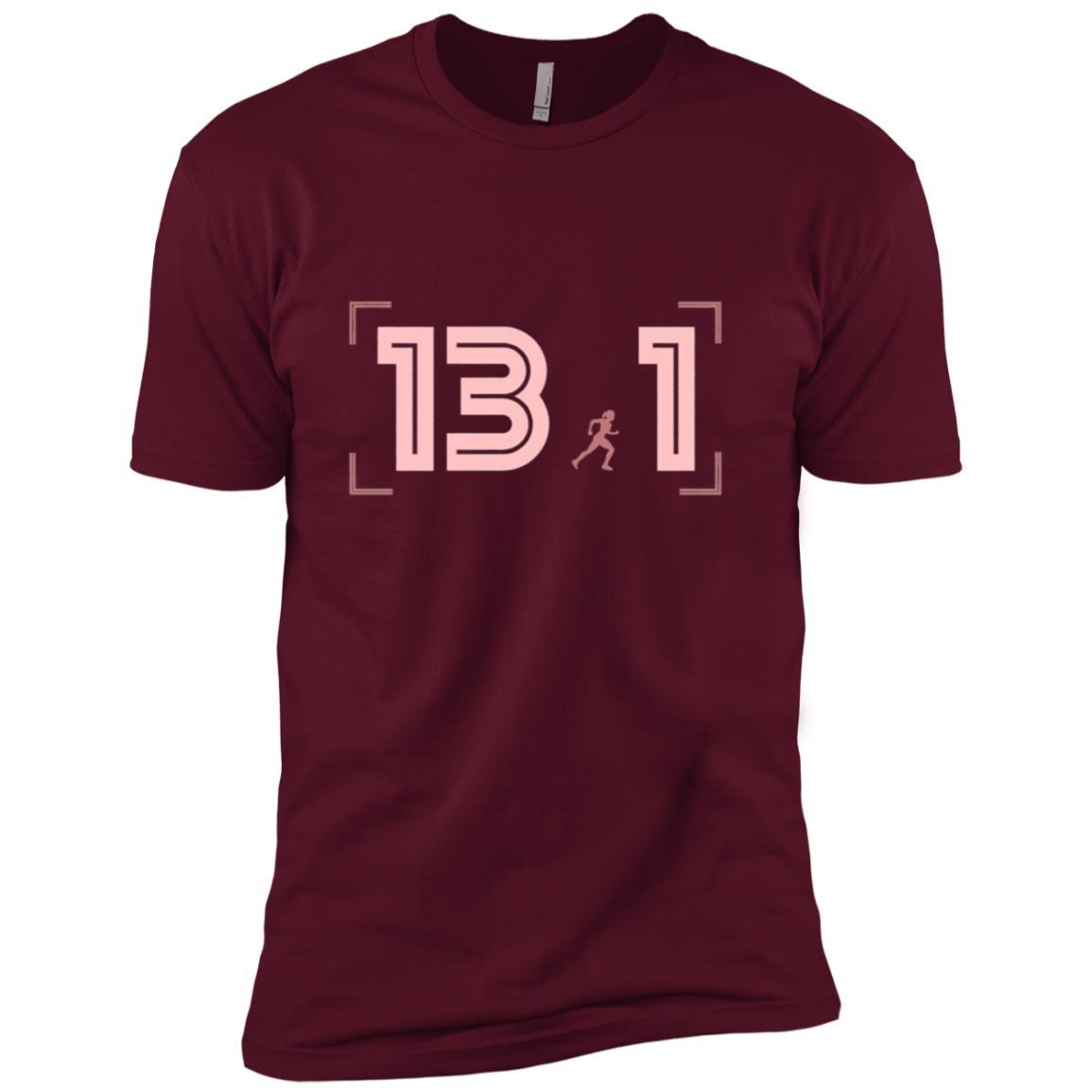 Half-Marathon Running 13.1 Premium Men Short Sleeve T-Shirt