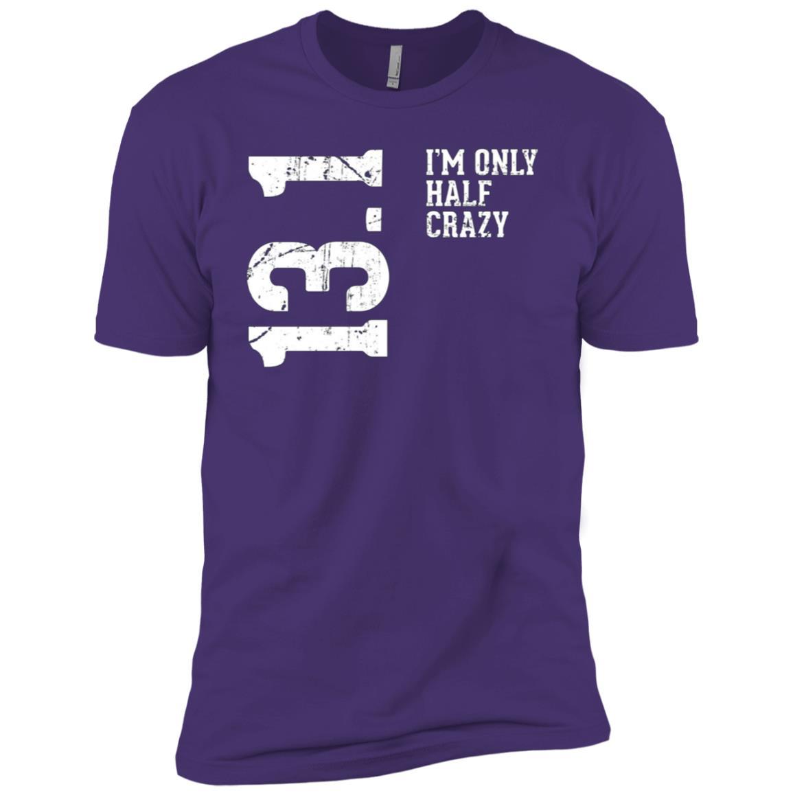 Half Marathon Half Crazy 13.1 Miles Runner Men Short Sleeve T-Shirt