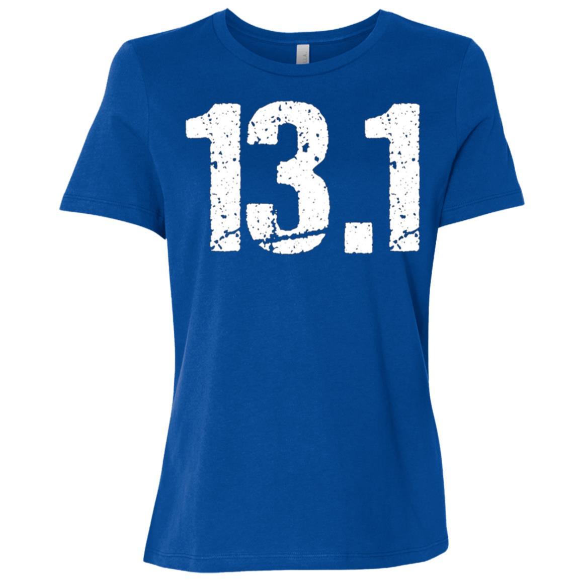 13.1 for Half Marathon Runners Grunge Distressed Women Short Sleeve T-Shirt