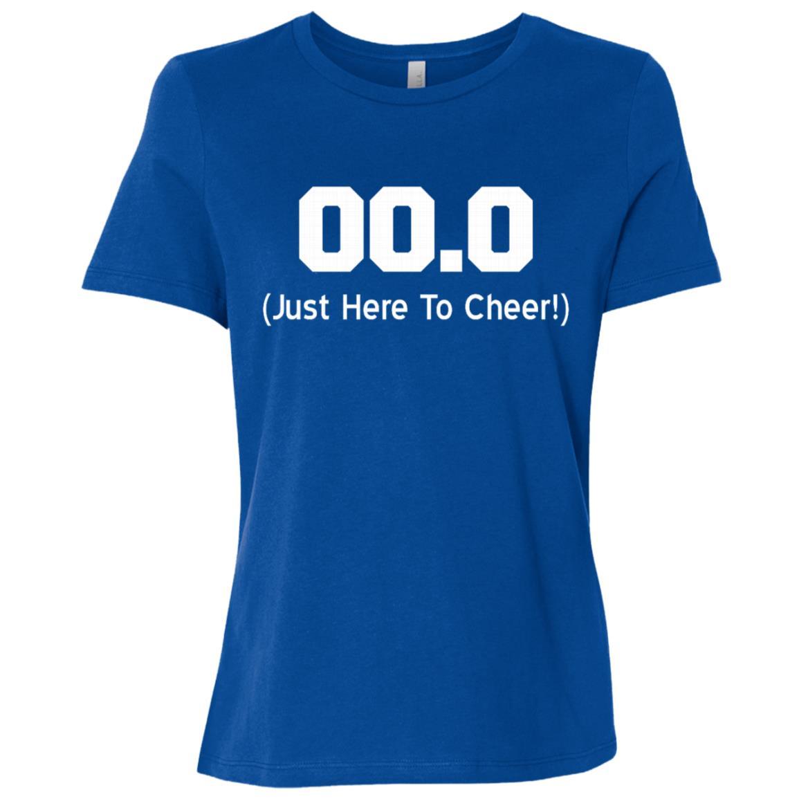 00.0 Just Here To Cheer Running Spectator Women Short Sleeve T-Shirt