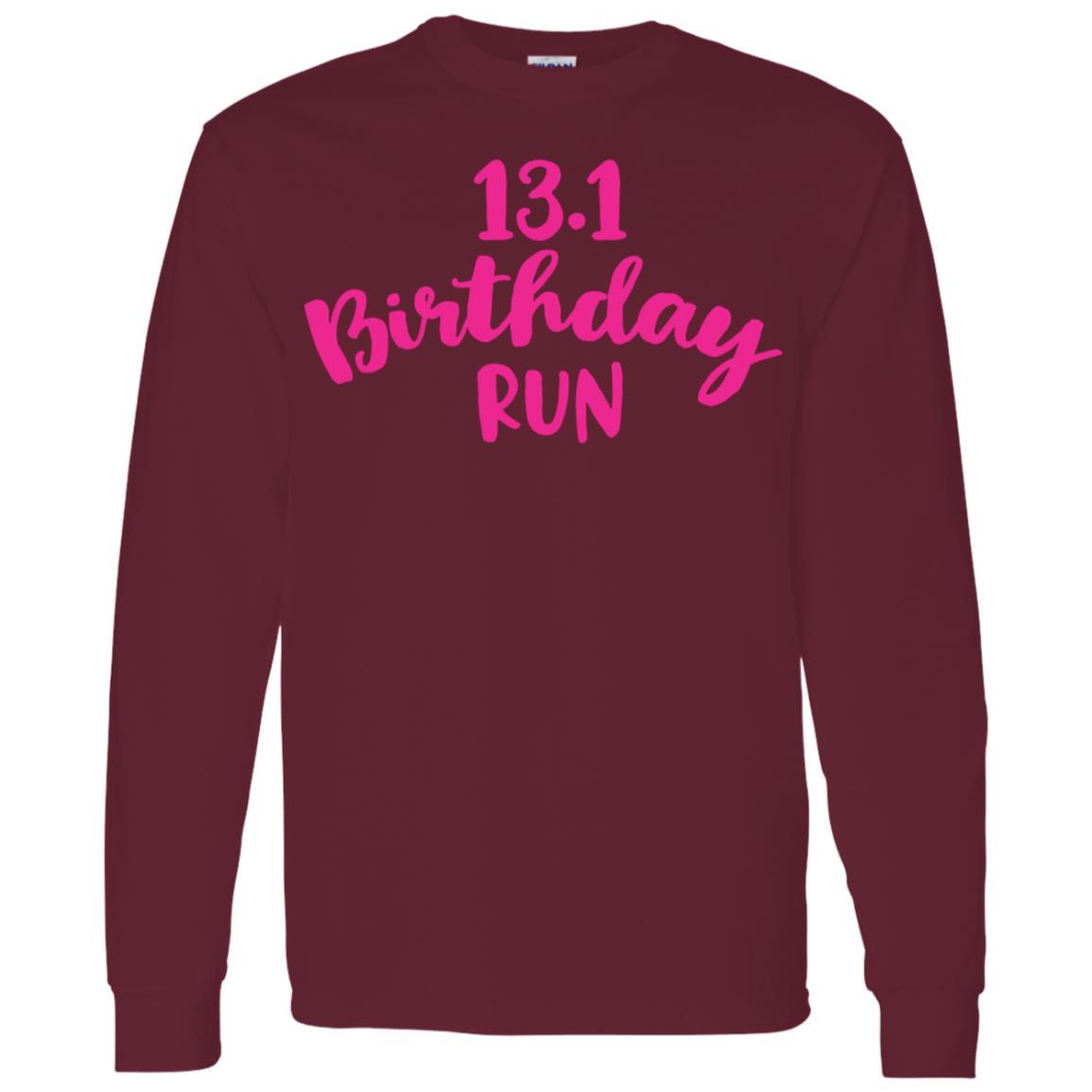 Half Marathon Birthday Runner Gift Running Men Long Sleeve T-Shirt